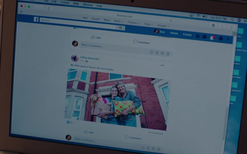 Facebook Website in Mrs. Fletcher Season 1 Episode 1 Empty Best (2019)