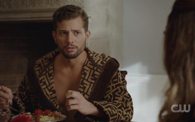 Fendi Bathrobe Worn by Rafael de la Fuente as Samuel Josiah 'Sammy Jo' Jones in Dynasty Season 3 Episode 2 (2)