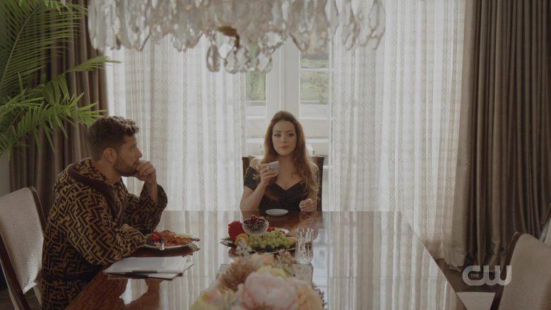 "Fendi Bathrobe Worn by Rafael de la Fuente as Samuel Josiah 'Sammy Jo' Jones in Dynasty Season 3 Episode 2 ""Caution Never Won a War"" (2019) - TV Show Product Placement"
