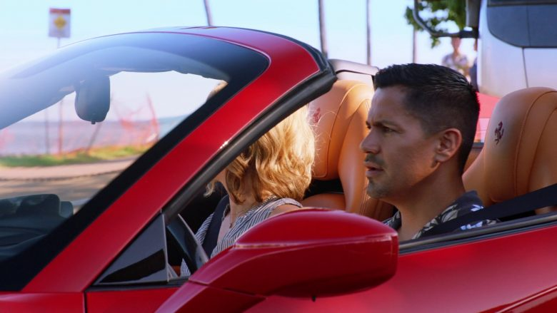 """Ferrari 488 Spider Red Car Used by Jay Hernandez as Thomas Magnum & Perdita Weeks as Juliet Higgins in Magnum P.I. Season 2 Episode 4 """"Dead Inside"""" (2019) - TV Show Product Placement"""