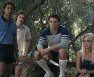 Fila Men's Blue Short Sleeve Shirt Worn by DeRon Horton as Ray Powell in American Horror Story 1984 Season 9 Episode 7 (2)