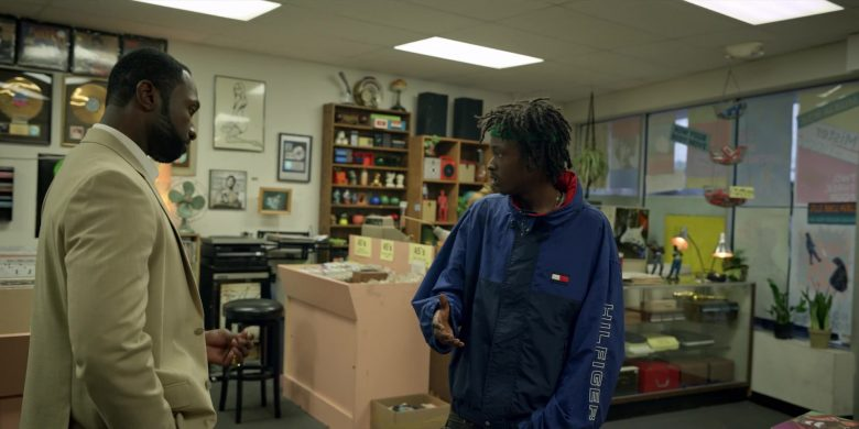 """Hilfiger Blue Jacket Worn by Ashton Sanders as Bobby Diggs in Wu-Tang: An American Saga Season 1 Episode 8 """"Labels"""" (2019) - TV Show Product Placement"""