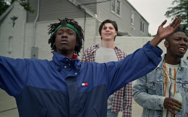 Hilfiger Blue Jacket Worn by Ashton Sanders as Bobby Diggs in Wu-Tang An American Saga (5)