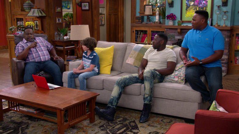 Lacoste Blue Polo Shirt Worn by Marcel Spears as Marty in The Neighborhood Season 2 Episode 5 (3)