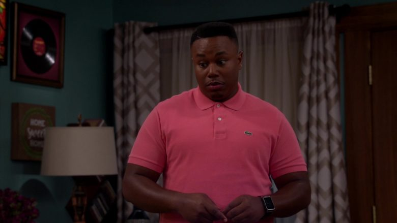 Lacoste Pink Polo Shirt Worn by Marcel Spears as Martin Lawrence Butler in The Neighborhood (1)