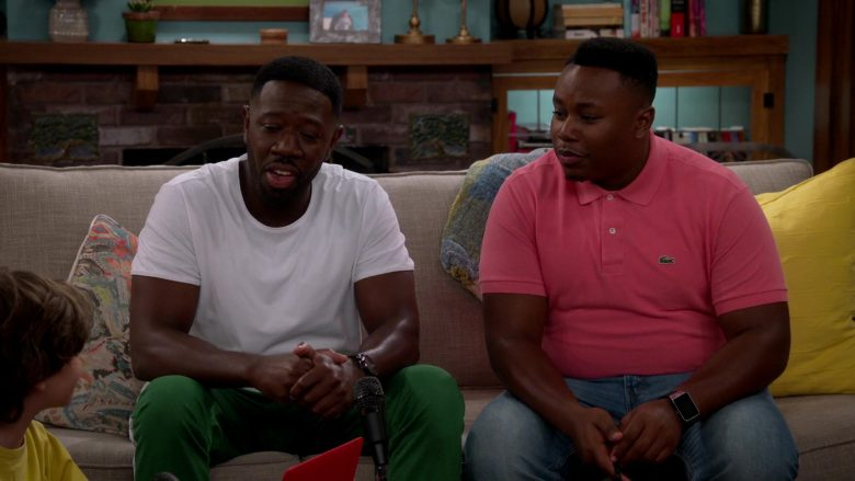 Lacoste Pink Polo Shirt Worn by Marcel Spears as Martin Lawrence Butler in The Neighborhood (2)