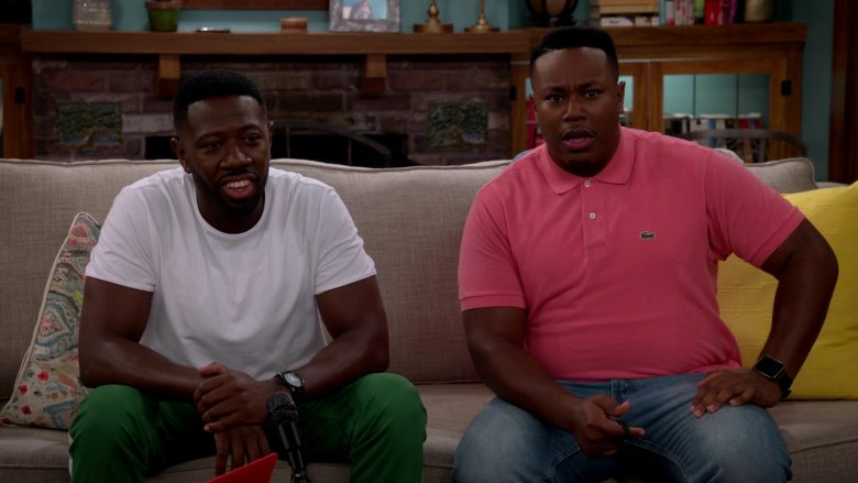 Lacoste Pink Polo Shirt Worn by Marcel Spears as Martin Lawrence Butler in The Neighborhood (3)