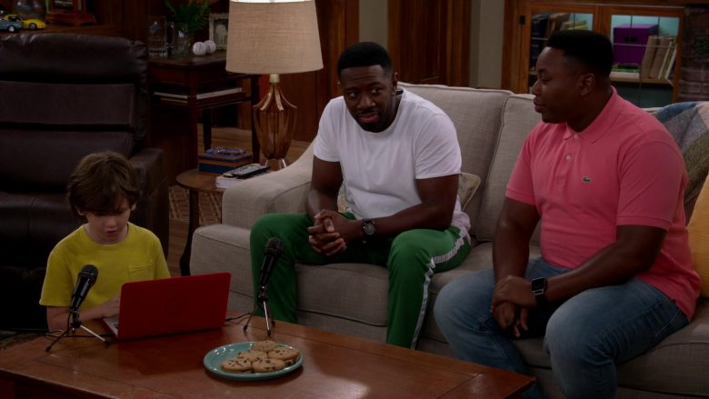 Lacoste Pink Polo Shirt Worn by Marcel Spears as Martin Lawrence Butler in The Neighborhood (4)