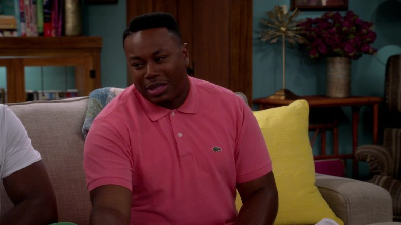 Lacoste Pink Polo Shirt Worn by Marcel Spears as Martin Lawrence Butler in The Neighborhood (5)
