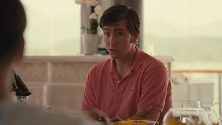 "Lacoste Pink Shirt Worn by Nicholas Braun as Greg Hirsch in Succession Season 2 Episode 10 ""This Is Not for Tears"" (2019) - TV Show Product Placement"