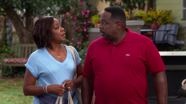 Lacoste Red Polo Shirt Worn by Cedric the Entertainer as Calvin Butler in The Neighborhood (2)