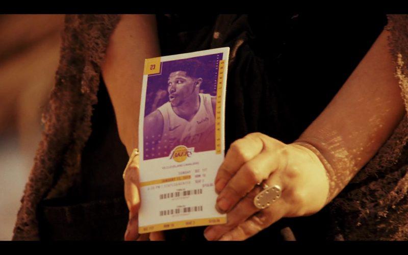 Los Angeles Lakers Basketball Team Ticket in Daybreak Season 1 Episode 7