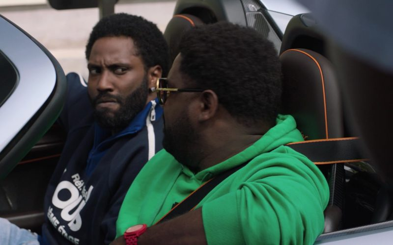 Louis Vuitton Printed Multi Zipped Sweatshirt Worn by John David Washington as Ricky Jerret in Ballers (1)