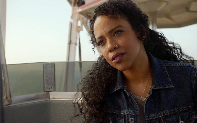 Lucky Brand Women's Blue Denim Jacket Worn by Actress in 9-1-1 Season 3 Episode 3 (4)