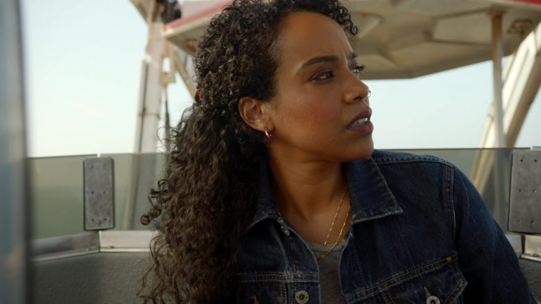 Lucky Brand Women's Blue Denim Jacket Worn by Actress in 9-1-1 Season 3 Episode 3 (2019) - TV Show Product Placement