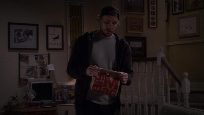 "McDonald's Big Mac Held by Dax Shepard as Luke Matthews in The Ranch Season 4 Episode 2 ""I Wish You'd Stay"" (2019) - TV Show Product Placement"