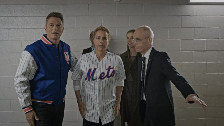 "Mets Shirt Worn by Téa Leoni as Elizabeth 'Bess' Adams McCord in Madam Secretary Season 6 Episode 2 ""The Strike Zone"" (2019) - TV Show Product Placement"