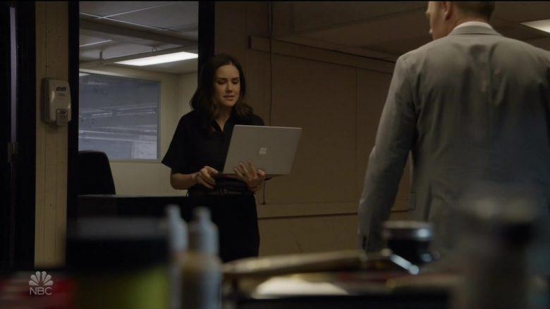 """Microsoft Surface Laptop Used by Megan Boone as Elizabeth 'Liz' Keen in The Blacklist Season 7 Episode 2 """"Louis T. Steinhil: The Conclusion"""" (2019) - TV Show Product Placement"""