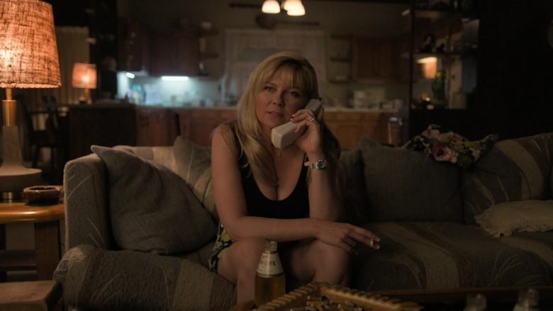 Miller High Life Beer Enjoyed by Kirsten Dunst as Krystal Stubbs in On Becoming a God in Central Florida Season 1 Epi (3)