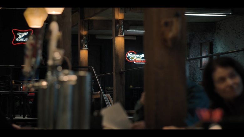 "Miller High Life and Narragansett Beer Neon Signs in Castle Rock Season 2 Episode 2 ""New Jerusalem"" (2019) - TV Show Product Placement"