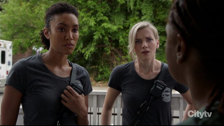 """Motorola Radio Used by Annie Ilonzeh as Paramedic Emily Foster in Chicago Fire Season 8 Episode 3 """"Badlands"""" (2019) - TV Show Product Placement"""