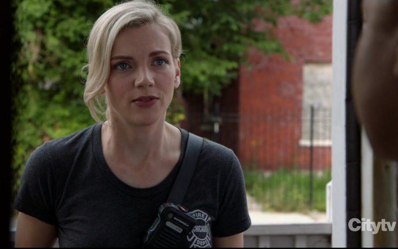 Motorola Radio Used by Kara Killmer as Paramedic in Charge Sylvie Brett in Chicago Fire (1)