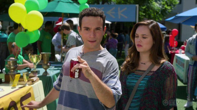 Mr. Pibb Soda Enjoyed by Troy Gentile as Barry Norman Goldberg in The Goldbergs Season 7 Episode 4 (3)