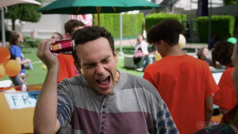 Mr. Pibb Soda Enjoyed by Troy Gentile as Barry Norman Goldberg in The Goldbergs Season 7 Episode 4 (5)