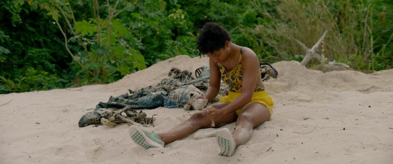 Nike Shoes (Green) Worn by Kiersey Clemons as Jenn in Sweetheart (2019) - Movie Product Placement