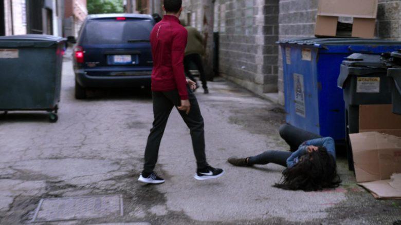 Nike Men's Black Sneakers Worn by Roland Buck III as Noah Sexton in Chicago Med Season 5 Episode 6