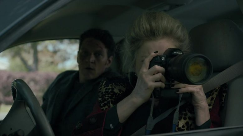 Nikon Camera Used by Kate Mulgrew as Alma Lane in Mr. Mercedes - Season 3, Episode 4, Trial and Terror (2019) - TV Show Product Placement