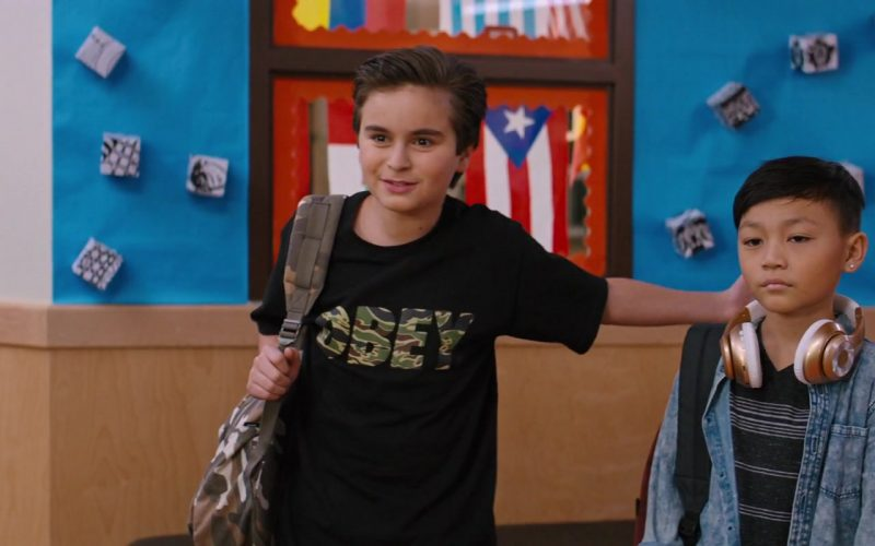 Obey Black T-Shirt Worn by Chance Hurstfield in Good Boys (1)
