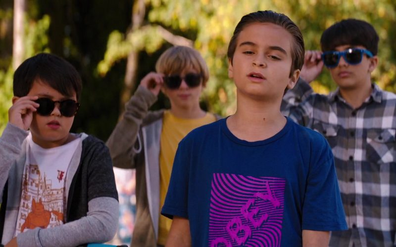 Obey Blue T-Shirt Worn by Chance Hurstfield in Good Boys (1)