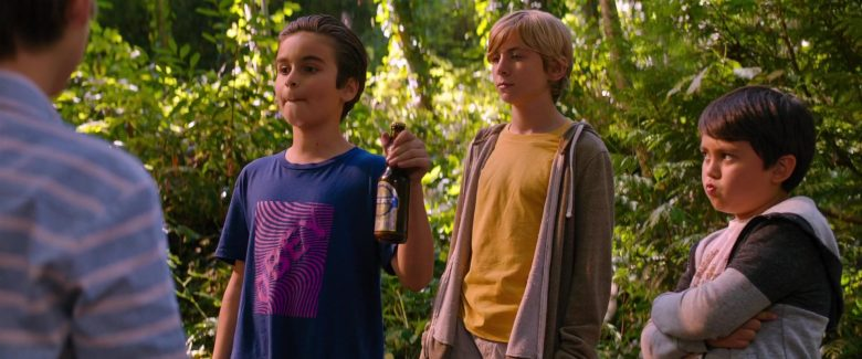 Obey Blue T-Shirt Worn by Chance Hurstfield in Good Boys (2)