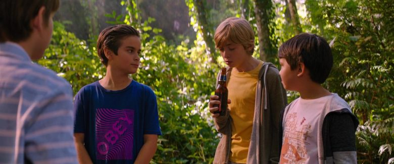 Obey Blue T-Shirt Worn by Chance Hurstfield in Good Boys (3)