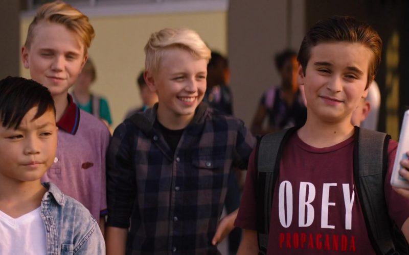 Obey Propaganda T-Shirt Worn by Chance Hurstfield in Good Boys