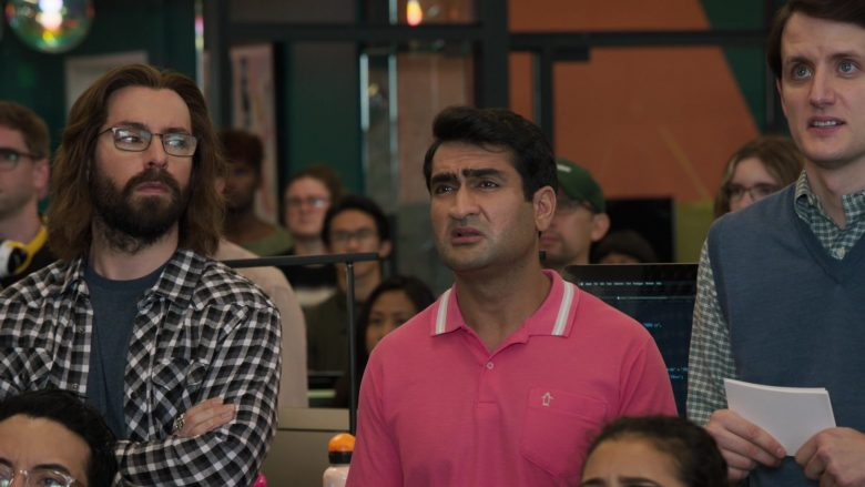 "Original Penguin Pink Polo Shirt Worn by Kumail Nanjiani as Dinesh Chugtai in Silicon Valley Season 6 Episode 1 ""Artificial Lack of Intelligence"" (2019) TV Show"