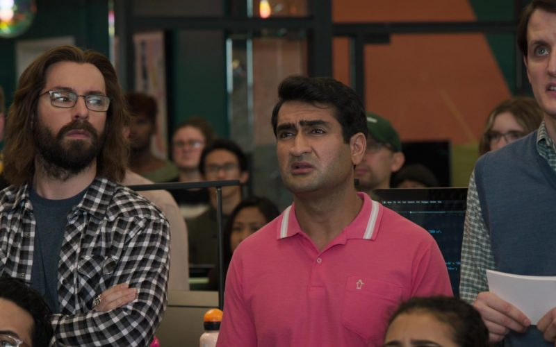 Original Penguin Pink Polo Shirt Worn by Kumail Nanjiani as Dinesh Chugtai in Silicon Valley Season 6 Episode 1 (1)