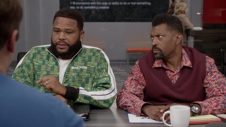 Palm Angels Green Jacket Worn by Anthony Anderson as Andre Johnson in Black-ish - Season 6, Episode 2, Every Day I'm Struggling (2019) - TV Show Product Placement