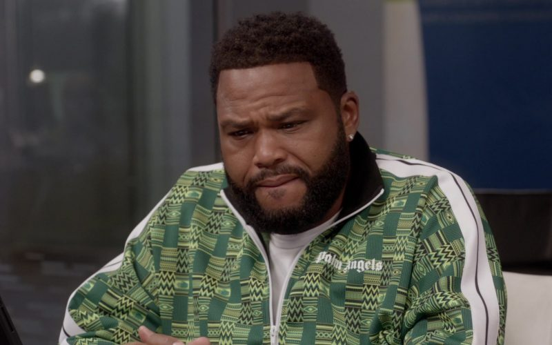 Palm Angels Green Jacket Worn by Anthony Anderson as Andre Johnson in Black-ish (7)