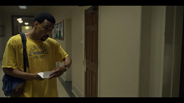 Polo Ralph Lauren Men's Yellow T-Shirt in Wu-Tang An American Saga Season 1 Episode 10