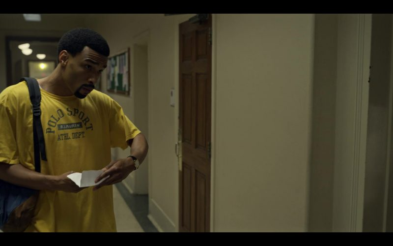 Polo Ralph Lauren Men's Yellow T-Shirt in Wu-Tang An American Saga Season 1 Episode 10