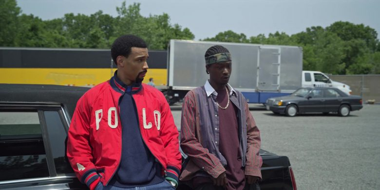 Polo Ralph Lauren Red Bomber Jacket in Wu-Tang An American Saga (1)