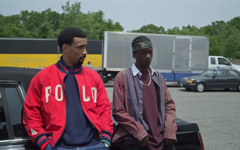 Polo Ralph Lauren Red Bomber Jacket in Wu-Tang An American Saga (1)