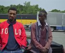 Polo Ralph Lauren Red Bomber Jacket in Wu-Tang An American Saga (2)