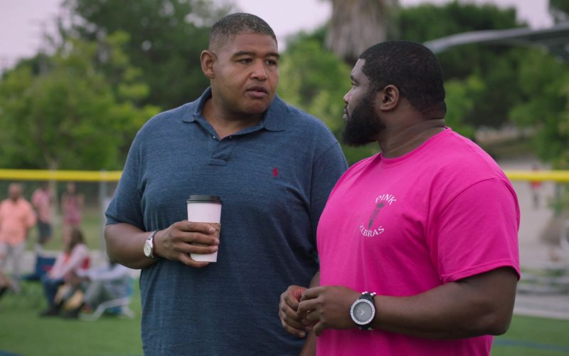 Ralph Lauren Polo Shirt Worn by Omar Miller as Charles Greane in Ballers (1)