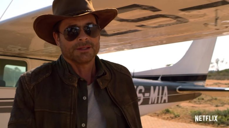 Ray-Ban Aviator Polarized Sunglasses Worn by Rob Lowe in Holiday In The Wild (2019) - Movie Product Placement