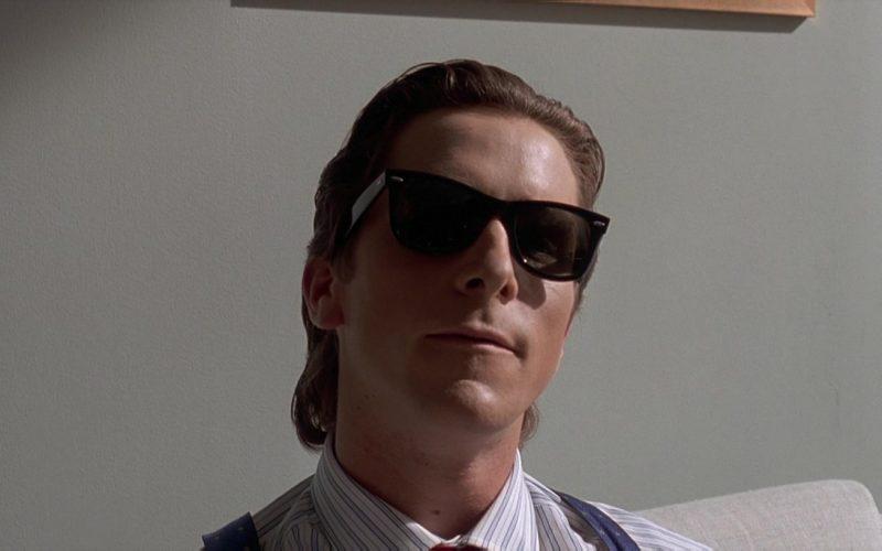 Ray-Ban Wayfarer Sunglasses Worn by Christian Bale as Patrick Bateman in American Psycho (8)