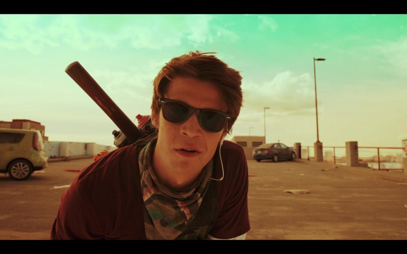 Ray-Ban Wayfarer Sunglasses Worn by Colin Ford as Josh Wheeler in Daybreak Season 1 Episode 9 (2)