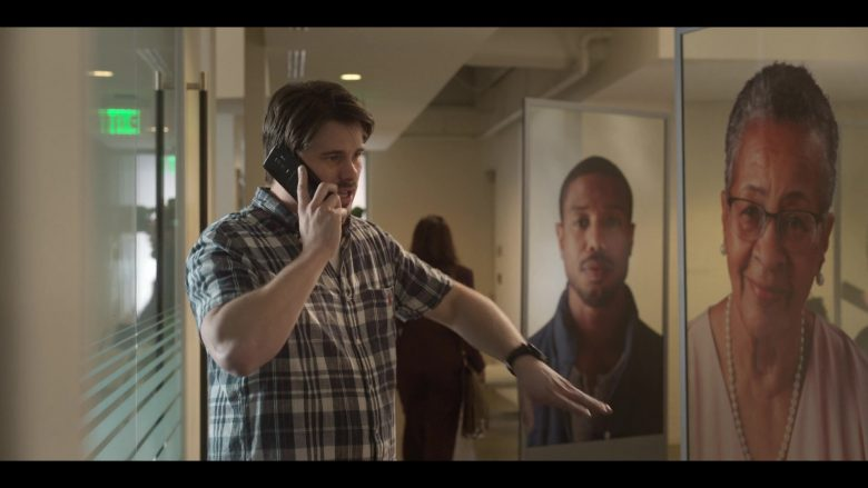 Samsung Galaxy Smartphone Used by Jason Ritter as Pat in Raising Dion